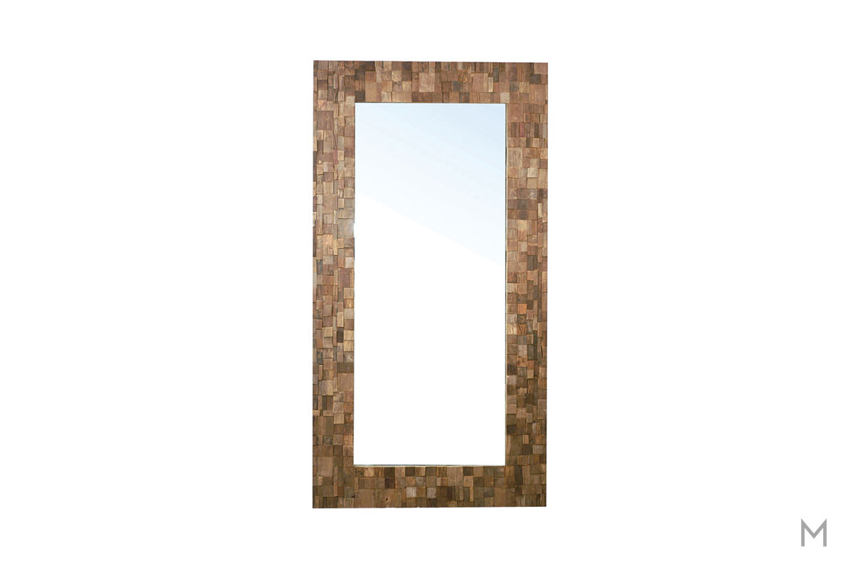 Neal Full Length Floor Mirror featuring Reclaimed Elm Frame