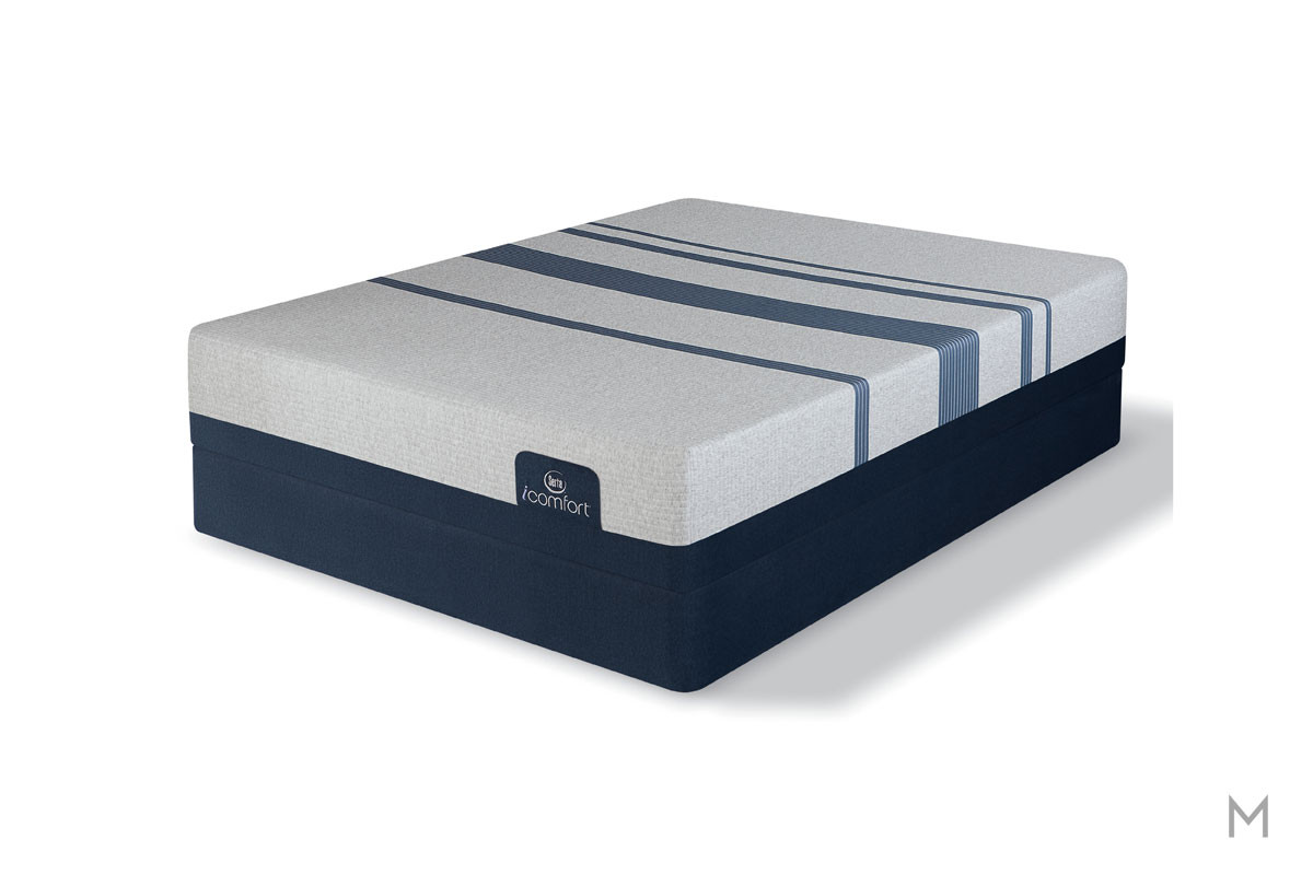 Serta Blue 500 Plush Mattress - King with Evercool® Fuze™ Memory Foam