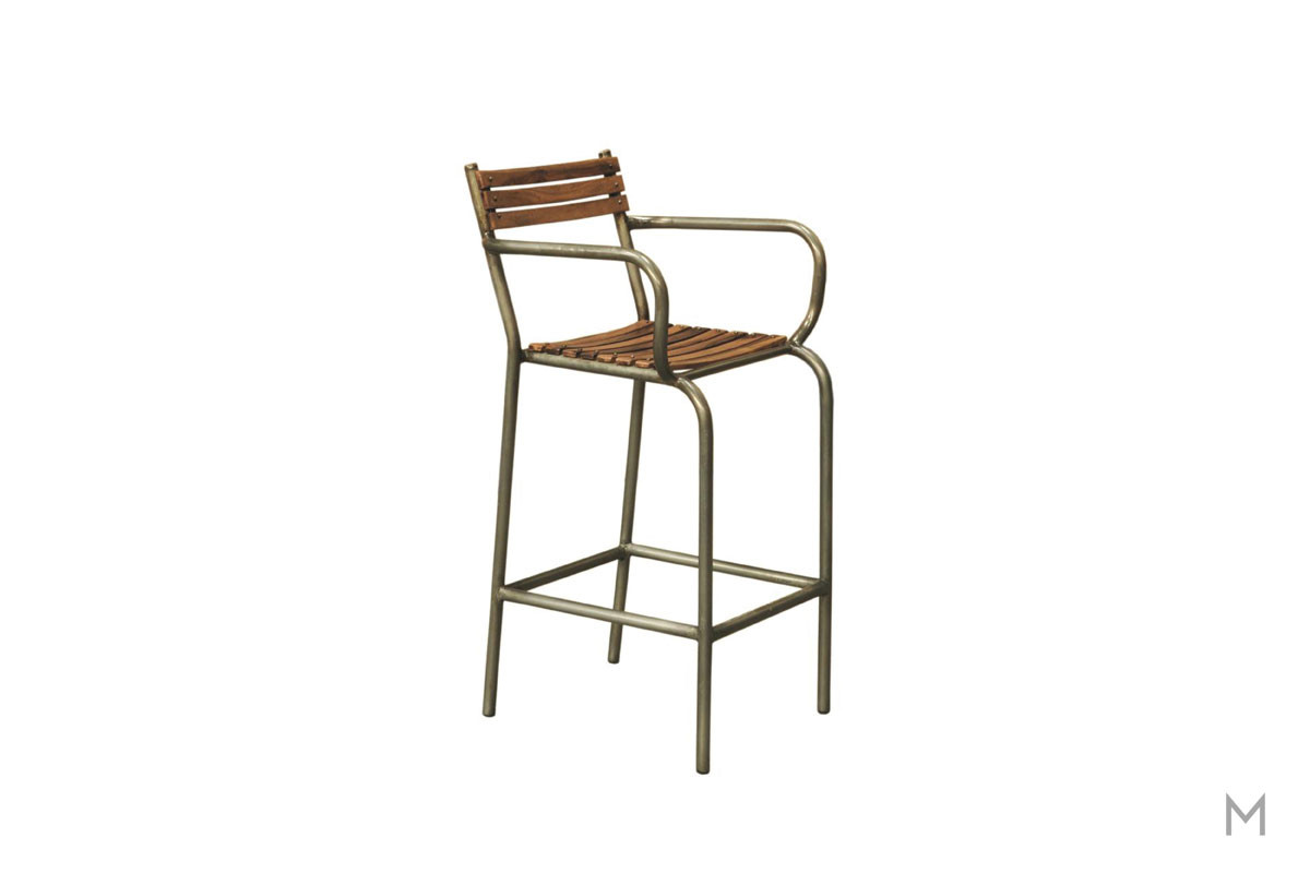 Barclay Bar Stool with Slat Back