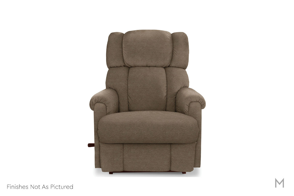 Pinnacle Swivel Rocker Recliner in Brown