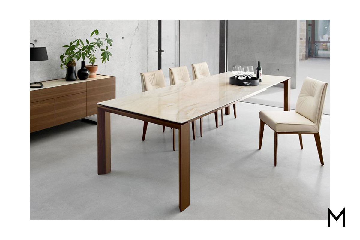Picture of: Extendable Glass Dining Table