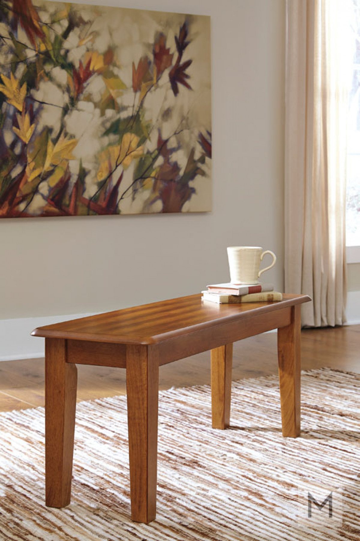 Berringer Dining Room Bench in Rustic Brown