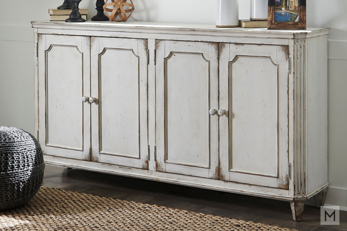 Mirimyn Accent Cabinet in Distressed White