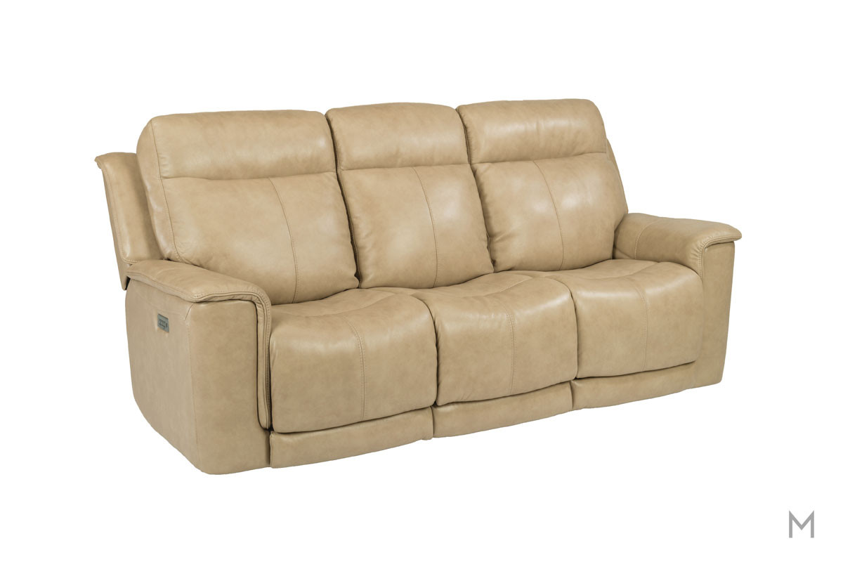Miller Leather Power Reclining Sofa with Power Headrest and Power Recline