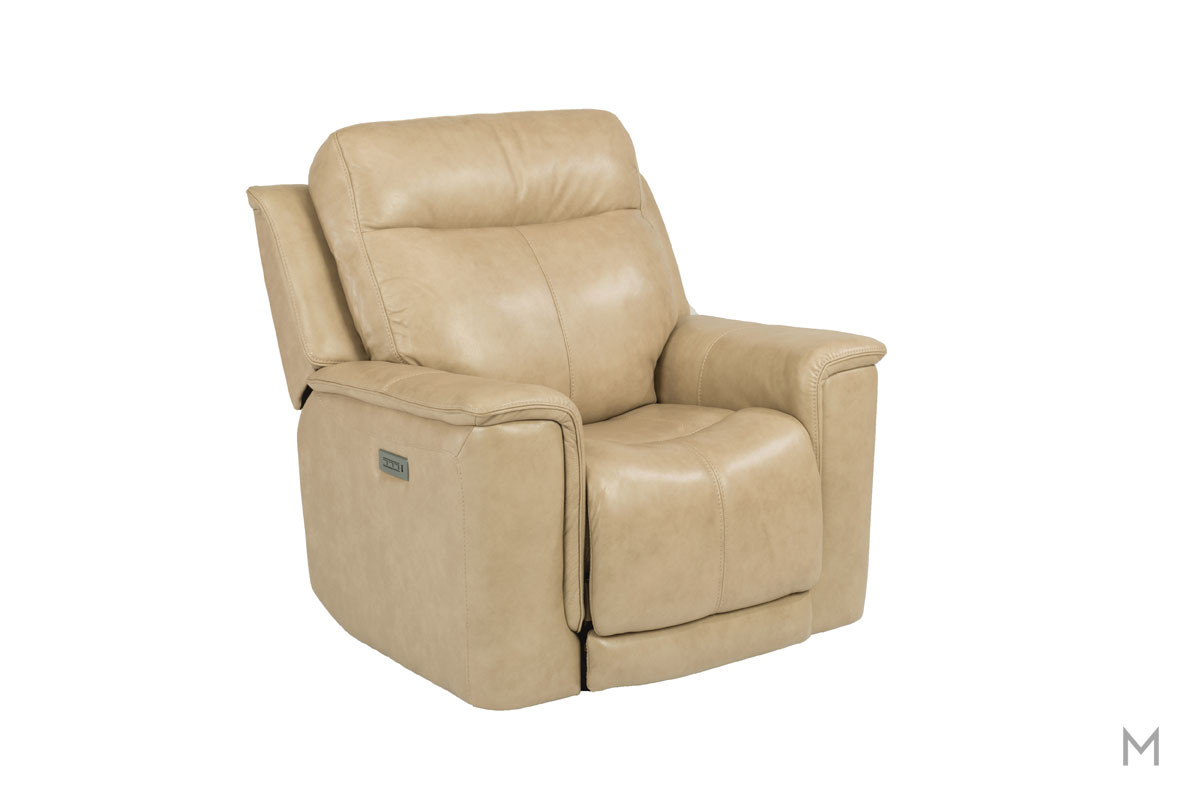 Miller Leather Power Recliner with Power Headrest and Power Recline