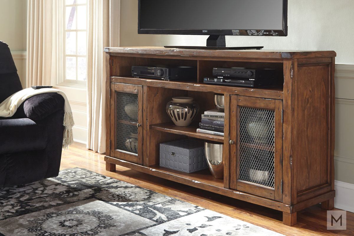 Tamonie TV Stand with Doored Storage