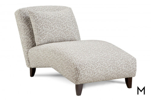 Armless Chaise in Jefe Pewter