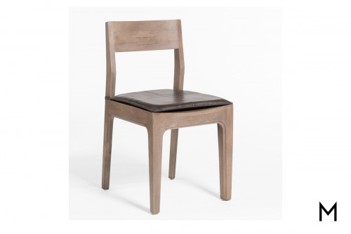 Maxwell Dining Chair with Leather Seat Cushion