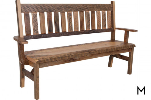 Reclaimed Oak Deacon's Bench