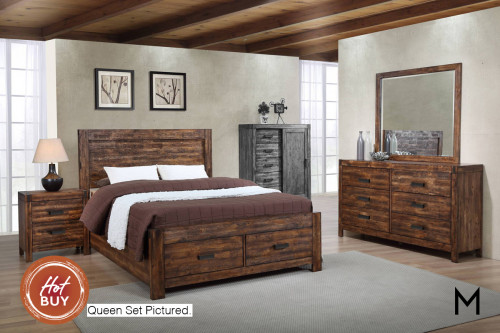 Rustic 4-Piece Bedroom Set - Twin
