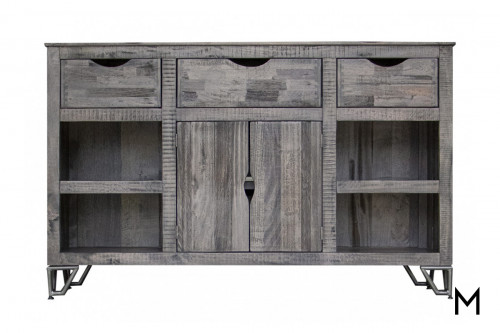 """Weathered Gray 60"""" TV Console"""