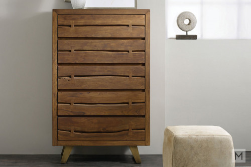 Transcend 5 Drawer Chest made of Acacia Wood