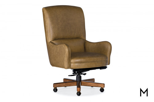 Executive Leather Swivel Desk Chair