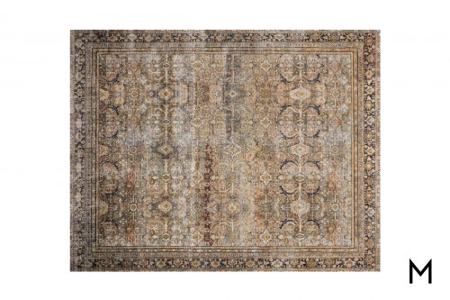 Layla Area Rug 5'x8' in Olive and Charcoal