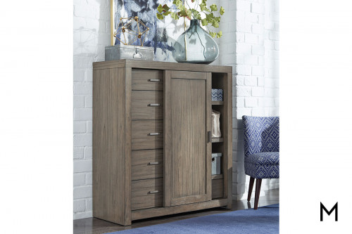 Modern Loft Sliding Door Chest with Drawers