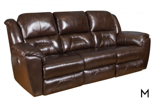 M Collection Pandora Reclining Sofa with 2 Seats that Recline and Power Headrests