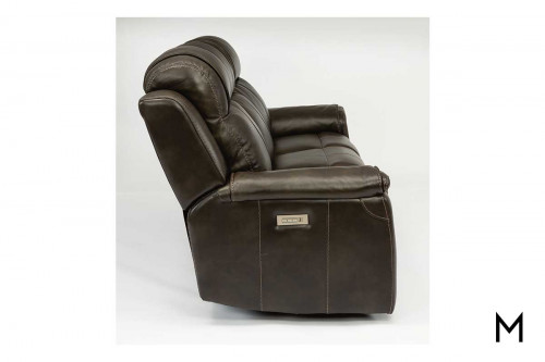 Kingsley Power Sofa with Power Headrest, Lumbar and Recline