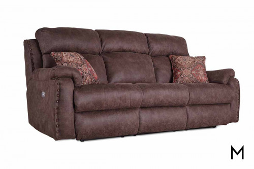 M Collection Blue Ribbon Double Reclining Sofa