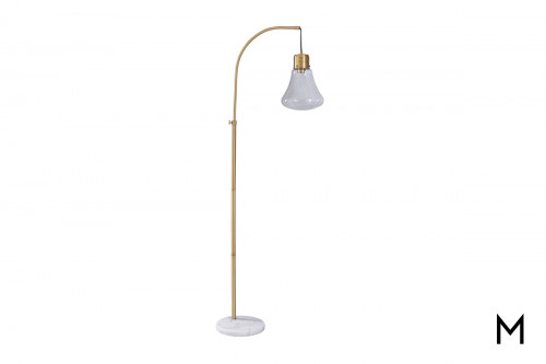 Mid-Century Pendant Floor Lamp with Marble Base