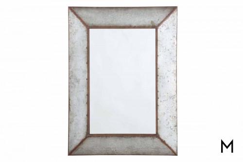 O'Tallay Wall Mirror in Galvanized Metal