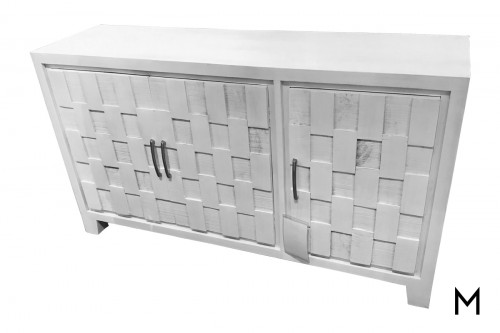 M Collection Alabaster Mosaic Cabinet