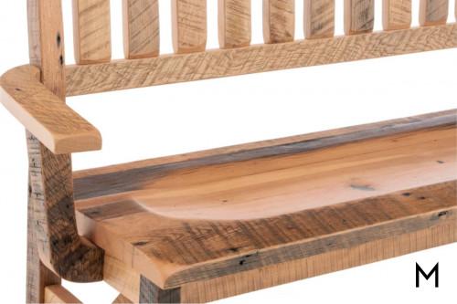 Reclaimed Barn Wood Deacon's Bench