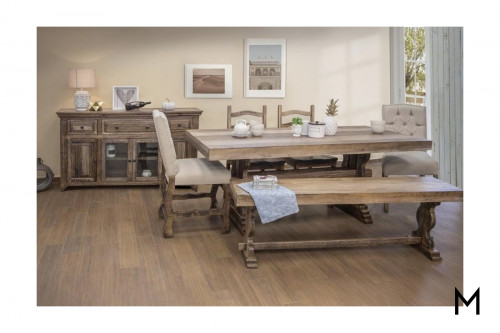 Rustic 6-Piece Counter Height Dining Set