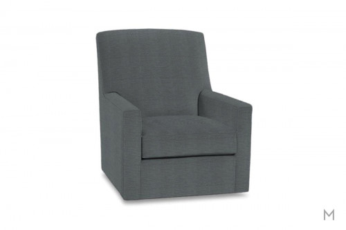 Owen Swivel Glider Accent Chair in Federal Blue