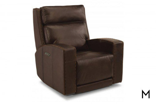 Archer Leather Power Gliding Recliner with Power Headrest