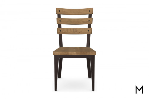 Dexter Side Dining Chair with Wood Seat