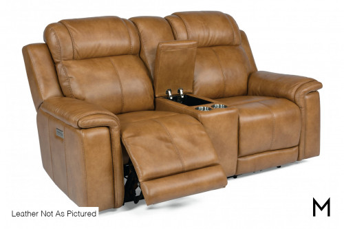 Kingsley Power Reclining Loveseat with Console