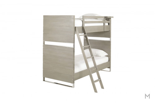 Axis Kids Twin Bunk Bed finished in Symmetry with Metal Accents