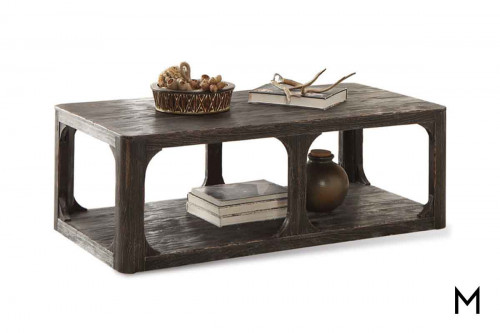 Bellagio Rectangular Coffee Table in Weathered Black