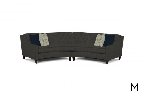 Wedge Two-Piece Sectional Sofa in Portofino Jeans