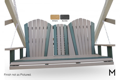 Adirondack Settee Swing with Fold-Down Cup Holder
