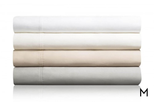 White Cotton Twin Sheets with 600 Thread Count