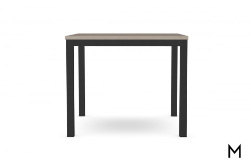 Carbon Dining Height Table with Almond Top