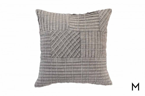 "Taby Gray Pillow 18""x18"""