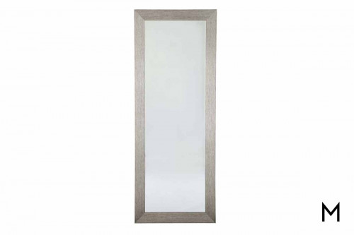 Duka Floor Mirror in Silver