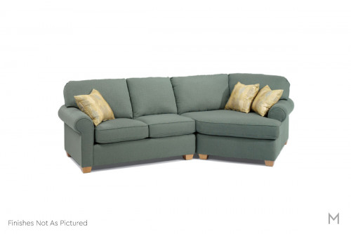 Thornton Sectional with Angled Chaise in Midnight Blue