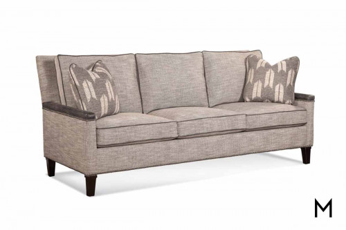 Transitional Contrasting Sofa featuring Nailhead Trim