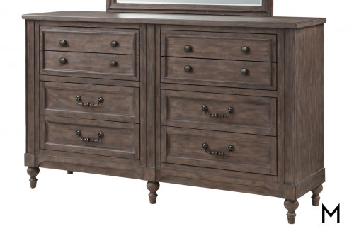 Relaxed Traditional 8-Drawer Dresser