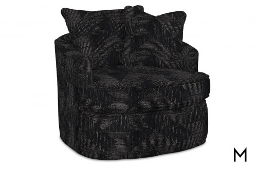 M Collection Patterned Swivel Chair