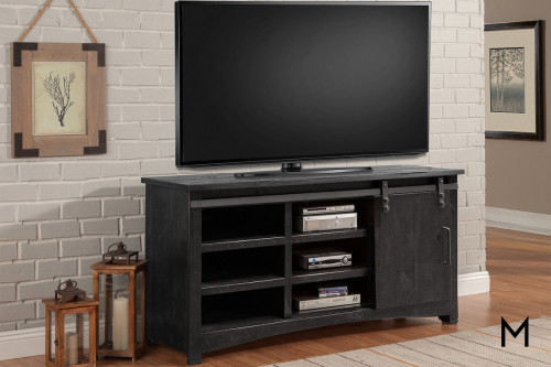 """M Collection 63"""" Entertainment Console with Sliding Door"""