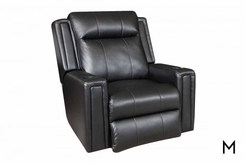M Collection Curve Wall Hugger Recliner with Power Headrest