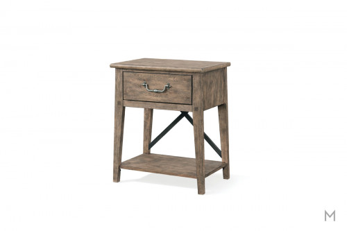 Riverbank 1 Drawer Nightstand in Weathered Gray Oak