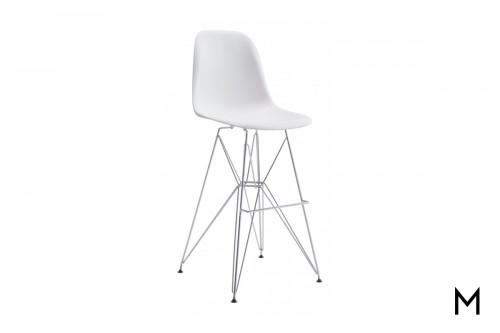 Zip Bucket Bar Chair in White