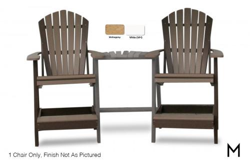 Adirondack Balcony Chair in Mahogany and White
