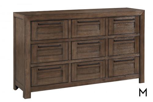 Modern-Rustic 9-Drawer Dresser