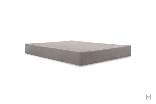 "TEMPUR 9"" High Flat Foundation - Twin XL in Gray Upholstery"